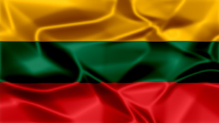 Lithuania Silky Flag Graphic Background