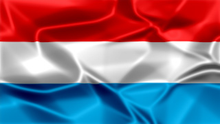 Luxembourg Silky Flag Graphic Background