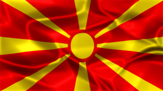 Macedonia Silky Flag Graphic Background