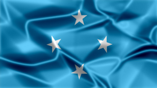 Micronesia Silky Flag Graphic Background