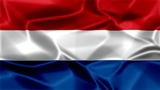 Netherlands Silky Flag Graphic Background