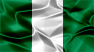 Nigeria Silky Flag Graphic Background