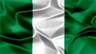 Nigeria Silky Flag Graphic Background