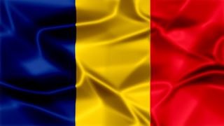 Romania Silky Flag Graphic Background