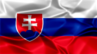 Slovakia Silky Flag Graphic Background