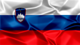 Slovenia Silky Flag Graphic Background