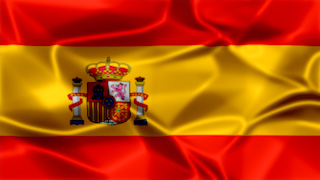 Spain Silky Flag Graphic Background
