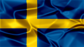 Sweden Silky Flag Graphic Background