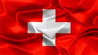 Switzerland Silky Flag Graphic Background