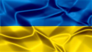 Ukraine Silky Flag Graphic Background