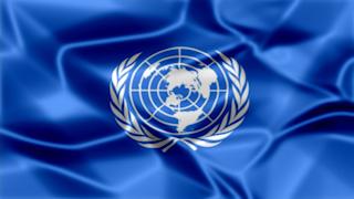 UN Silky Flag Graphic Background