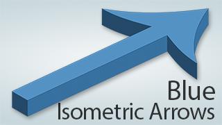 Isometric Arrows Blue
