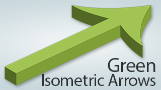 Isometric Arrows Green