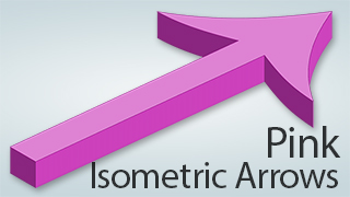 Isometric Arrows Pink