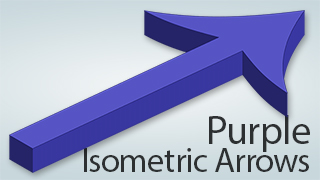 Isometric Arrows Purple