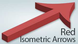 Isometric Arrows Red
