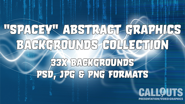 """""""Spacey"""" Abstract Graphics Backgrounds Collection"""