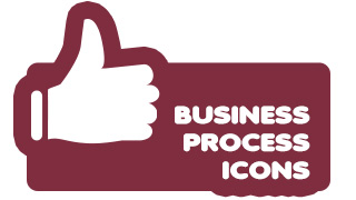 Business Process Icons Purple