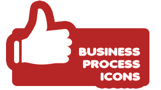 Business Process Icons Red