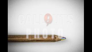 Single Multi-colored Pencil