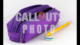 Pencil Bag, Pencil and Eraser