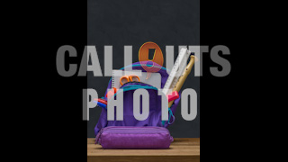 School Bag with School Supplies in Front of Blackboard