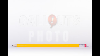 Yellow Pencil with Space for Text Above