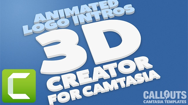 Camtasia 3D Logo Intro/Outro