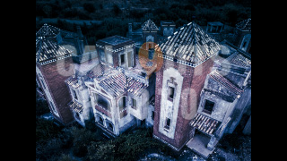 Haunted Deserted House from Above