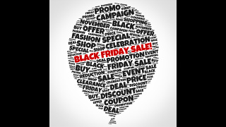 Black Friday Word Cloud Balloon Sale Graphics