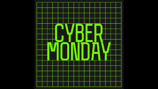 Cyber Monday Futuristic Text Sale Graphics