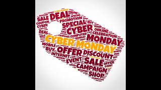 Cyber Monday Word Cloud Price Tag Sale Graphics