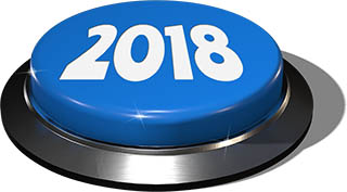 Big Juicy Button: 2018 Blue