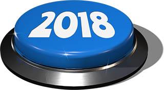 Big Juicy Button: 2018 Blue