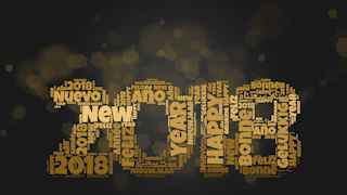 2018 New Year Themed Background 05