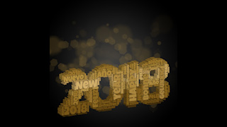 2018 New Year Themed Background 09