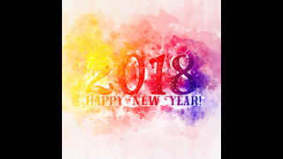 2018 New Year Themed Background 12