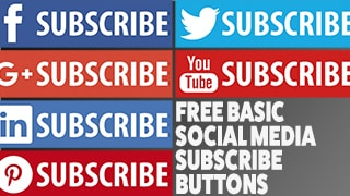 Basic Social Media Subscribe Buttons