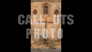 Old Church Wall with Cross