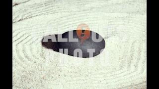Zen Meditation Stone in Sand 02