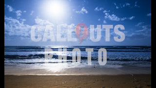 Sandy Beach with Sun and Clody Sky