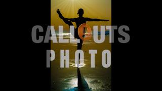 Beach Yoga Silhouette Woman Godrays Photo
