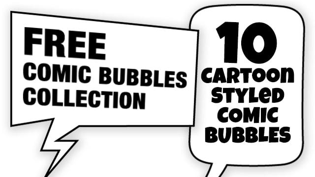 Free Comics-Styled Speech Bubbles