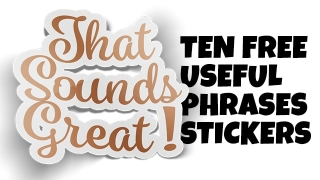 Free Useful Phrases Sticker Icons
