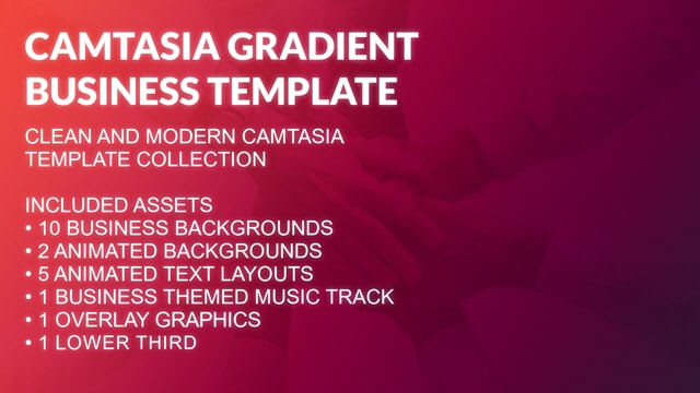 Camtasia Gradient Business Presentation Template