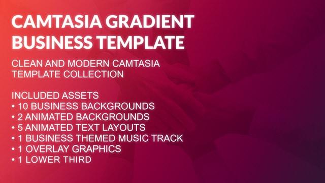 Camtasia Gradient Business Presentation Template