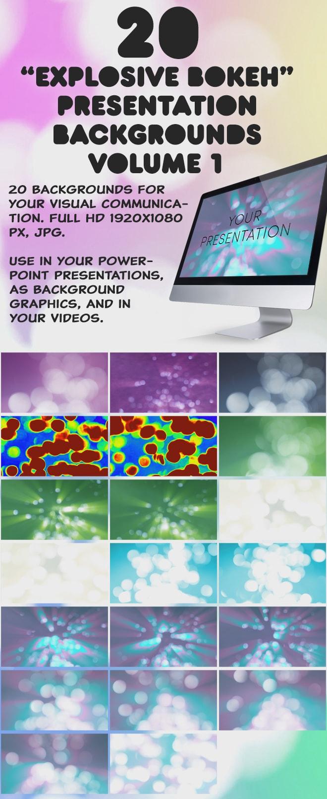 20 Explosive Bokeh Presentation Backgrounds Volume 1 – Callouts
