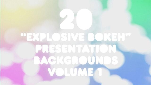 20 Explosive Bokeh Presentation Backgrounds Volume 1