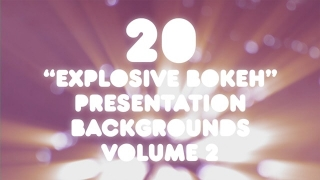 20 Explosive Bokeh Presentation Backgrounds Volume 2