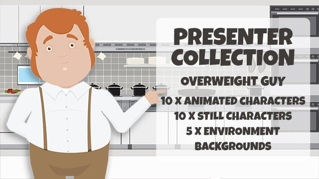 Presenter Collection: Overweight Guy
